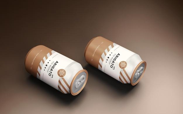 Макет упаковки банки с газировкой