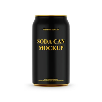 Soda drink can mockup