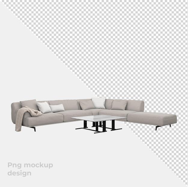 Диван 3d рендеринг декора и интерьера