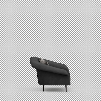 Sofa in 3d rendering isolated
