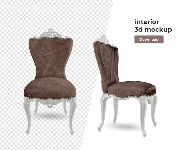 Sofa chair decoration in 3d rendering