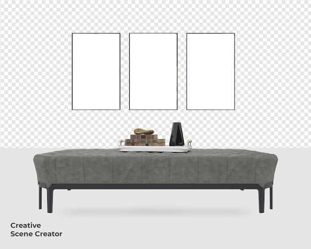 Диван стул украшение мебель дизайн макет