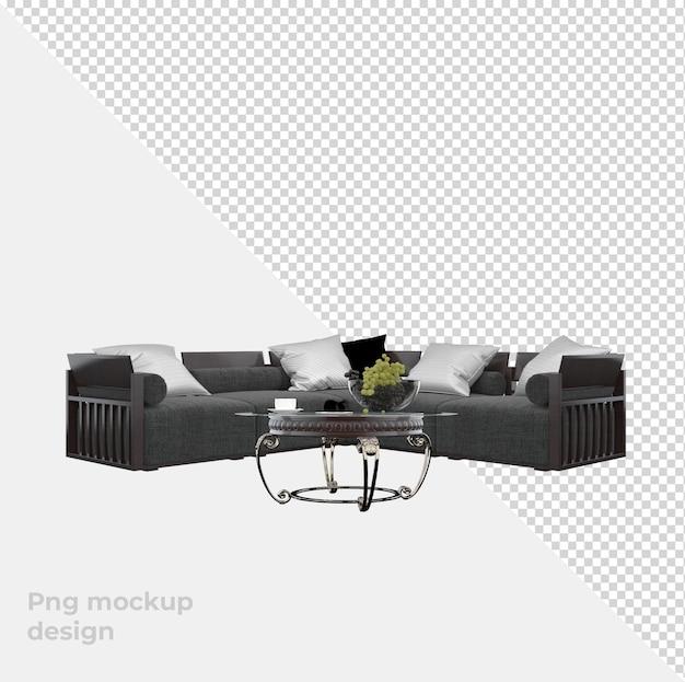 Диван-стул в 3d-рендеринге