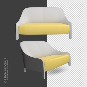 Sofa interior decoration rendering