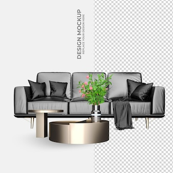Sofa interior modern decoration rendering