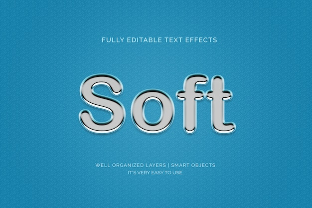 Soft 3d text style effect