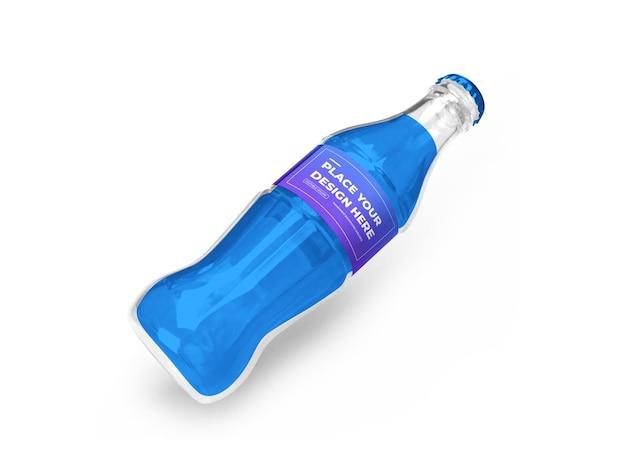 Soft drink bottle 3d mockup design