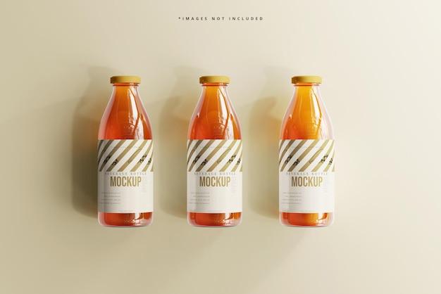 Мокап стеклянной бутылки для безалкогольных напитков