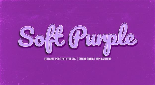 Soft purple  3d text style effect