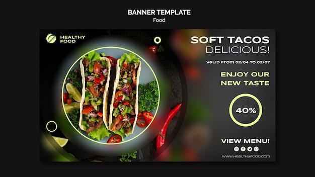 Modello di banner per tacos morbidi