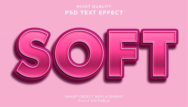 Soft text effect