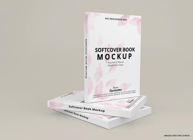 ソフトカバーの本の表紙のモックアップ