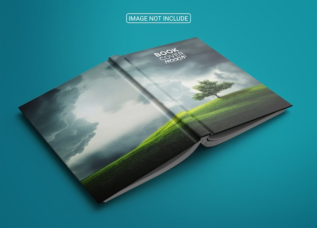 Softcover book mockup front and back