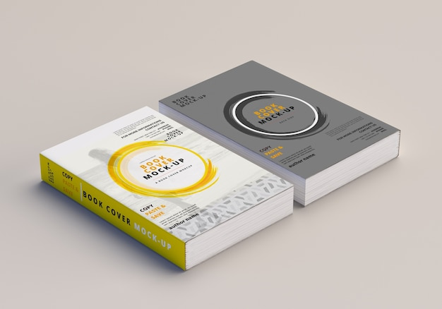 Softcover large book mockup