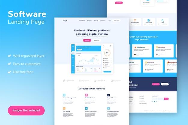 Веб-шаблон целевой страницы программного обеспечения