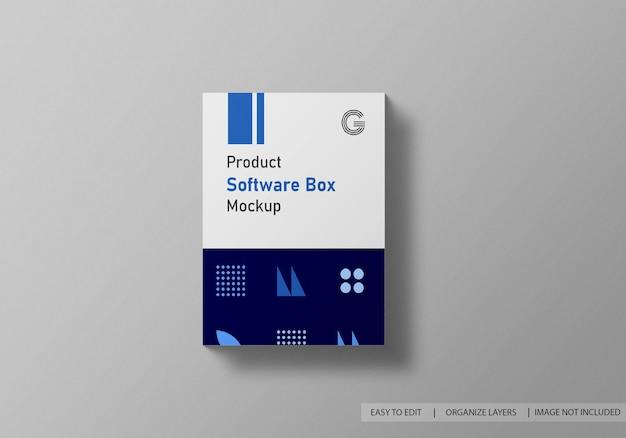 Программное обеспечение или макет коробки с квадратным продуктом