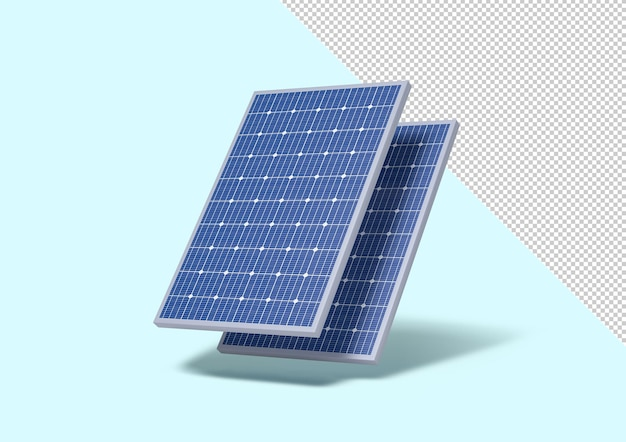 Solar panel isolated from the background editable