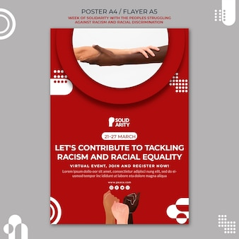 Плакат солидарности с людьми, борющимися с расизмом
