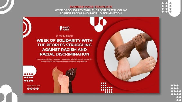 Solidarity for people struggling with racism banner