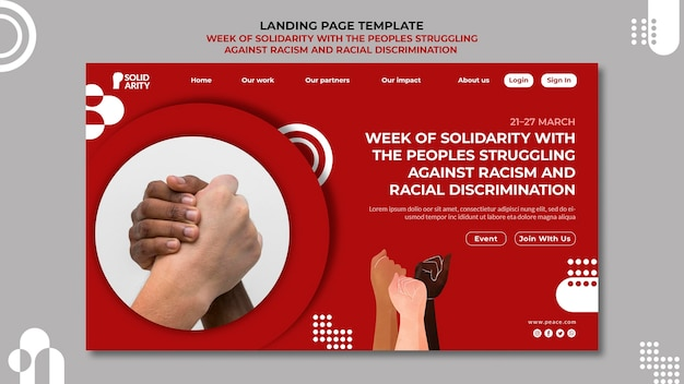 Solidarietà per le persone alle prese con la pagina di destinazione del razzismo