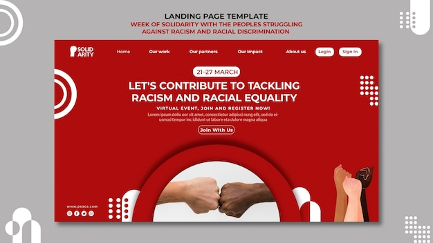 Solidarity for people struggling with racism landing page