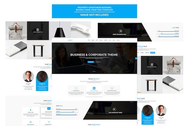 Solutions and services company  template landing page
