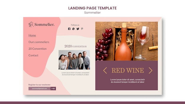 Sommelier ad template landing page