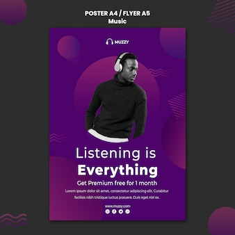 Songs app flyer template