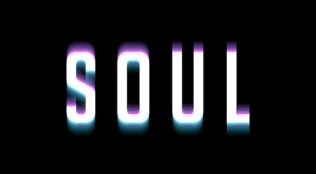 Soul text effect template layer style
