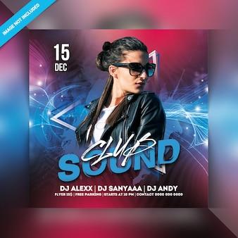 Sound club party flyer