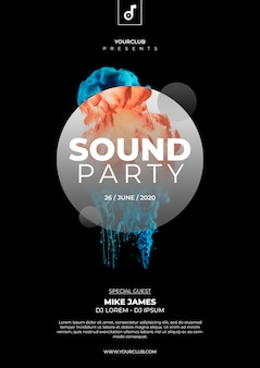 Sound party cover template
