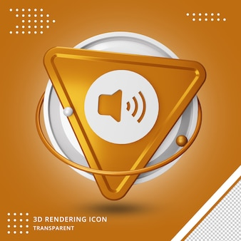 Sound or speaker icon 3d rendering isolated