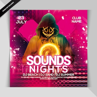 Sounds night party flyer