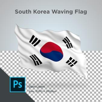 Прозрачный дизайн волны флаг южной кореи
