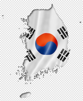 한국 국기지도