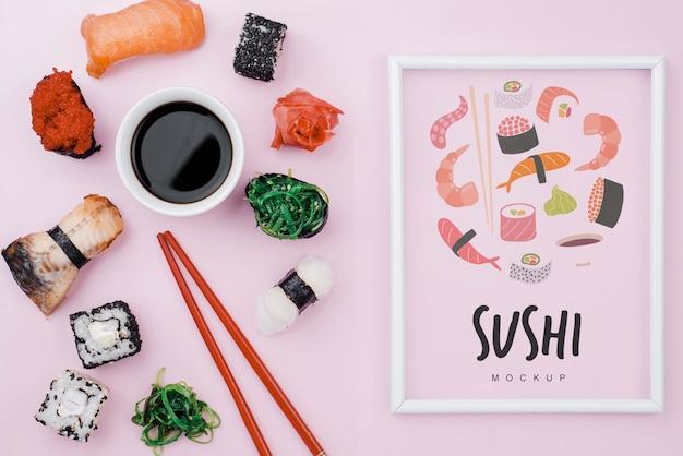 醤油と巻き寿司