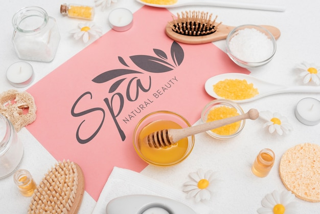 Spa beauty care with natural products