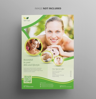 Spa and beauty flyer template