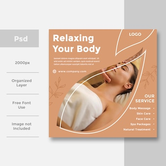 Spa & beauty social media banner ad design