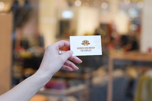 Spa center business card mockup