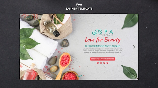 Spa concept banner template