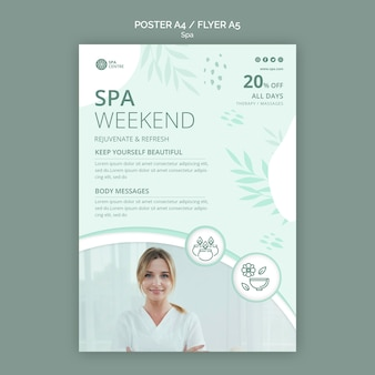 Spa concept flyer template