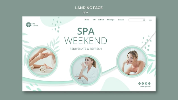 Spa concept landing page template