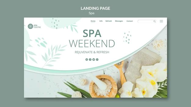 Modello di pagina di destinazione del concetto di spa