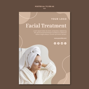 Spa concept poster template