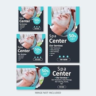 Spa social media pack design