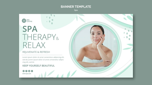 Spa therapy relax weekend banner template
