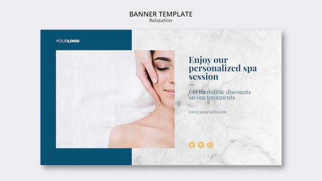 Spa treatment banner template