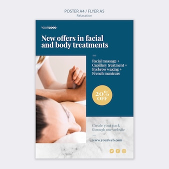 Spa treatment flyer template