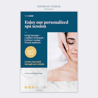 Spa treatment poster template